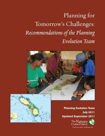 Recommendations of the Planning Evolution Team - Conservation ...