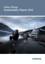 Volvo Group Sustainability Report 2010