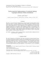 On the numerical implementation of variational arbitrary ... - CiteSeerX