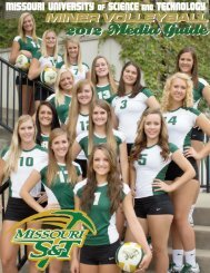 2012 Volleyball Media Guide - Missouri S&T Athletics