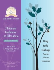 7th Annual Conference on Elder Abuse - Legal Assistance for Seniors