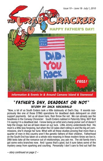 """Father's Day, Deadbeat or Not"" - The Crab Cracker"