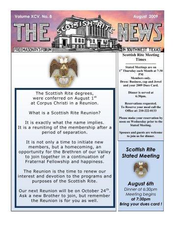 Scottish Rite News - Valley of San Antonio - Albert Pike Chapter No ...
