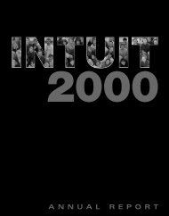 Fiscal 2000 Annual Report - Intuit