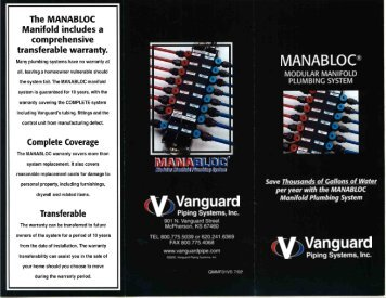 Manifold includes a comprehensive transferable warranty.