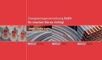 Energieeinsparverordnung EnEV - Dämmpass - cuprotherm