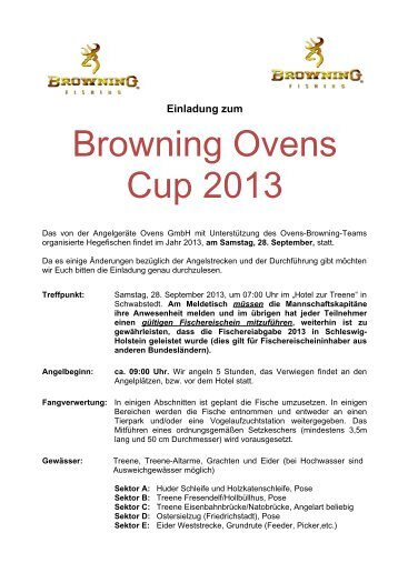 Browning Ovens Cup - beim Champions Team