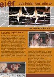 eier das leiden der hühner - die tierbefreier eV