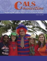 Volume 5, June 2005 - College of Agricultural and Life Sciences