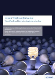 Design Thinking Bootcamp - Stimmt AG