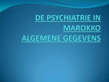 Psychiatrie in Marokko; algemene gegevens - AOF