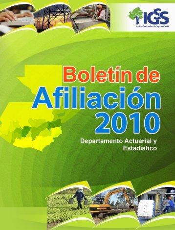 Año 2010 - Instituto Guatemalteco de Seguridad Social