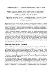 Terapia omeopatica in pazienti con patologia ... - Paolobellavite.it