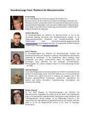 Koordinierungsteam - Plattform für Menschenrechte Salzburg