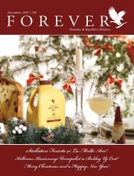 Decembrie 2010 - Forever Living Products