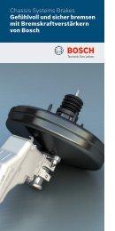 Gefühlvoll und sicher bremsen mit Bremskraftverstäkern von Bosch