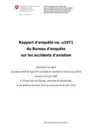 Rapport d'enquête no. u1971 du Bureau d'enquête sur les accidents ...