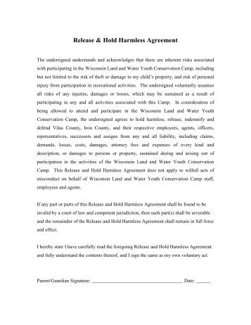 Medical Release And Hold Harmless Agreement  The Dance Studio B