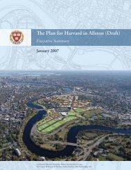 The Plan for Harvard in Allston (Draft)