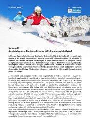 Ski amadé Ausztria legnagyobb síparadicsoma 860 kilométernyi ...