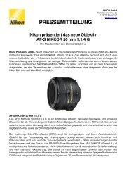 080923_Nikon pr-344sentiert Objektiv AF-S NIKKOR 50mm_DE_Final