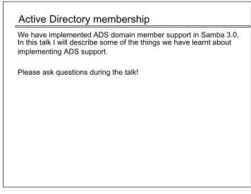 Active Directory membership - Samba
