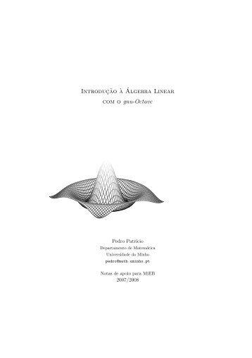 Introduç˜ao `a´Algebra Linear com o gnu-Octave - Departamento de ...