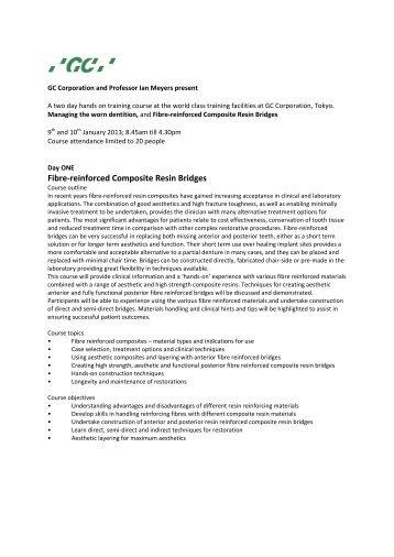 Fibre-reinforced Composite Resin Bridges