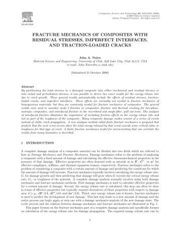 thesis on fracture mechanics Master thesis numerical analysis of crack propagation and lifetime estimation fracture mechanics and numerical programming bm4-2 bo ernst westergren jensen.