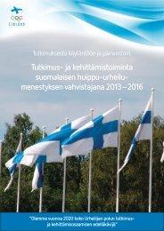 huippu-urheilun T&K-ohjelma - Kilpa- ja huippu-urheilun ...
