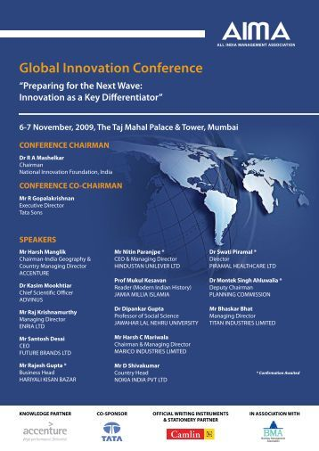 Global Innovation Conference - Bombay Management Association