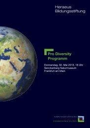 Pro Diversity Programm - Senckenberg