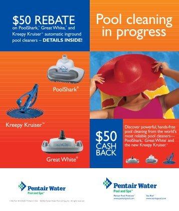 Pool cleaning in progress - Pentair