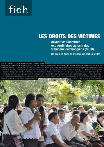 LES DROITS DES VICTIMES - FIDH