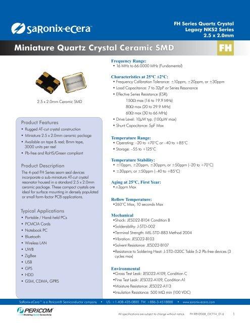 //-20ppm 16MHZ FUNDAMENTAL Crystals 10 pieces