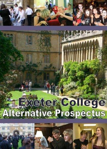 Alternative Prospectus - Exeter College