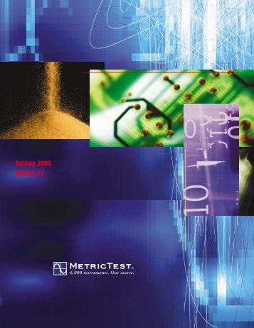 Catalog 2003 Volume 22 - MetricTest