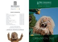 Fall 2012 Orientation Brochure - Methodist University