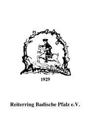 Satzung des Reiterringes - Reiterring Badische Pfalz eV