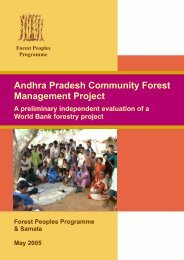 Andhra Pradesh Community Forest Management Project