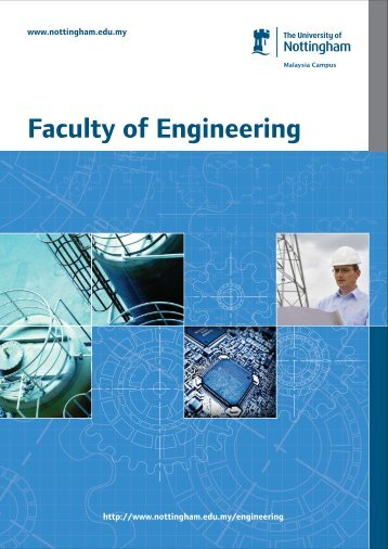 PG Engineering Brochure - The University of Nottingham, Malaysia ...