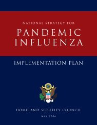 national security strategy - Utah's Pandemic Influenza