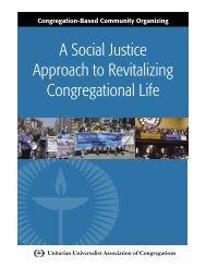 Congregation-Based Community Organizing - Unitarian Universalist ...