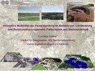Innovative Methoden der Fernerkundung im Bereich von Landnutzung