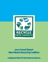 2011 Annual Report New Mexico Recycling Coalition