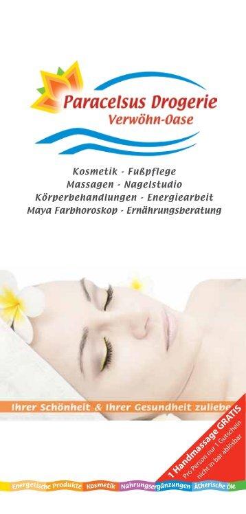1 Handmassage GRATIS ,00 - Paracelsus Drogerie