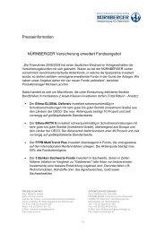 Presseinformation NÜRNBERGER Versicherung erweitert ...