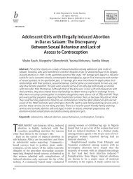 Adolescent Girls with Illegally Induced Abortion in ... - Women Deliver