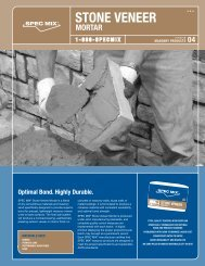 Spec Mix Stone Veneer Mortar Data Sheet - Asdco