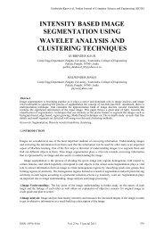 intensity based image segmentation using wavelet analysis